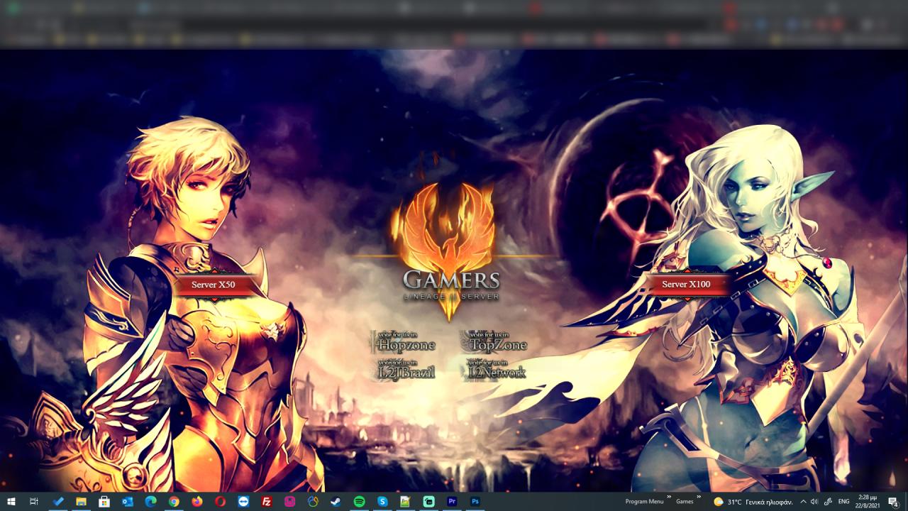 Lineage2 Gamerz Welcome screen Designed by DenArt