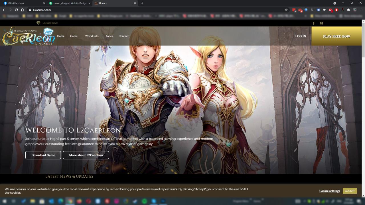 L2caerleon Website designed By DenArt